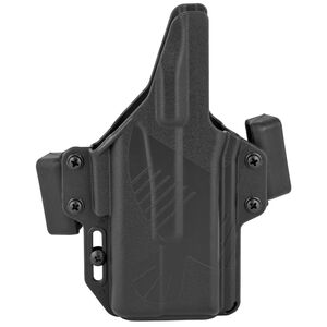 Raven Concealment Systems Perun Light Bearing OWB Holster For GLOCK 19/23/32 Ambidextrous Draw Surefire XC-1 Compatible Matte Black Finish