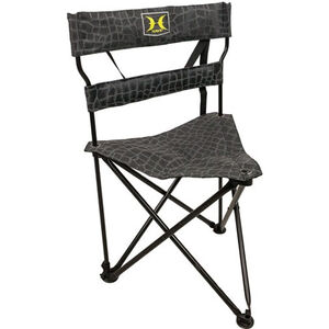 Hawk Stealth Tri-Stool Blind Chair Black/Grey