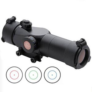 TRUGLO Trition 30mm Tri Color Tactical Red Dot Sight 3 MOA Center Dot Weaver Mount Aluminum Black