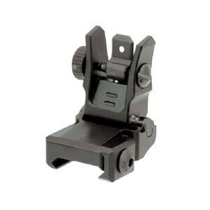 UTG Low Profile Flip-up Rear Sight with Dual Aiming Aperture Black MNT-955