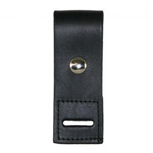 Boston Leather Epaulet Mic Holder Nickel Snap Basketweave Leather Black 5469-3