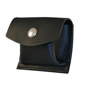 Boston Leather Glove/Mask Pouch Black Snap Leather Plain Black