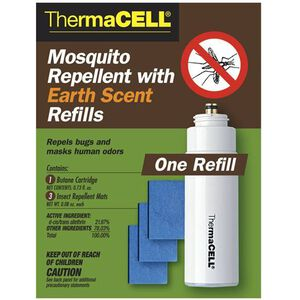 ThermaCELL Mosquito Repellent Refill 3 Mats 1 Butane Cartridge Earth Scent E1