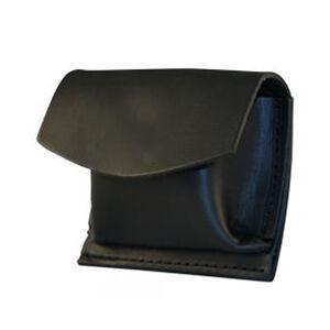 "Boston Leather Rubbler Glove CPR Shield Pouch 2.25"" Belt Velcro Leather Basket Weave Black 5640V-3"