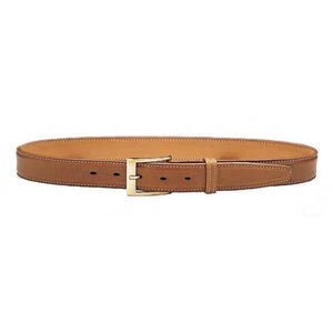"Galco SB3 Dress Belt 1.5"" Wide Brass Buckle Leather Size 34 Tan SB3-34"