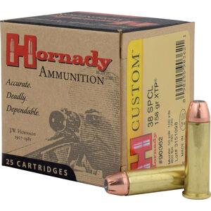 Hornady Custom .38 Special Ammunition 25 Rounds 158 Grain Hornady XTP Jacketed Hollow Point 800fps