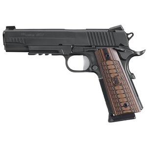 "SIG Sauer 1911 Select Semi Auto Pistol .45 ACP 5.0"" Barrel 8 Rounds SIGLite Sights SIG Rail Custom G10 Grips Stainless Steel Slide/Frame Nitron Black Finish"
