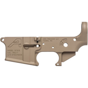 Aero Precision STS15 AR-15 Stripped Lower Receiver Multi Caliber Marked Short Throw Safety 7075-T6 Aluminum FDE