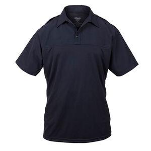 Elbeco UV1 Undervest Men's Short Sleeve Shirt Large Regular Polyester Wool Midnight Navy