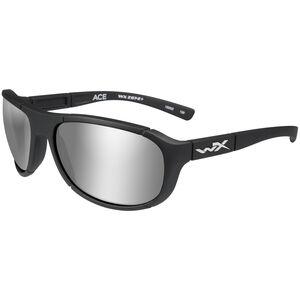 Wiley X ACE Polarized Shooting Glasses Medium/Large Black Frame Silver Flash Lenses