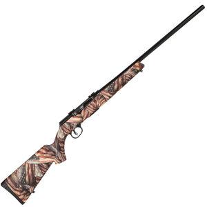 "Savage Model A17 .17 HMR Semi Auto Rimfire Rifle 10 Rounds 22"" Barrel American Flag Synthetic Stock Black Finish"