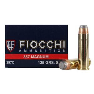 FIOCCHI Shooting Dynamics .357 Magnum Ammunition 50 Rounds SJSP 125 Grains 357C