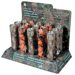 Rivers Edge Products 8 LED Flashlight with Laser Pointer Aluminum 3 AAA Batteries Camo Countertop Display 15 Pack 1184