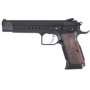 "EAA Witness Hunter Semi Auto Pistol .45 ACP Luger 6"" Barrel 10 Rounds Single Action Fully Adjustable Sights Extended Magazine Release Walnut Grips Black 600257"