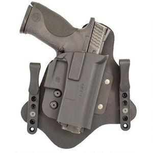 Comp-Tac QH Hybrid IWB Modular Holster Right Hand Fits GLOCK 43 Kydex/Leather Black