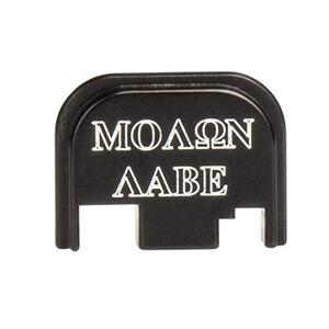 CruxOrd GLOCK Back Plate Molon Labe Aluminum Black