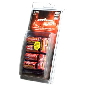 123A Batteries Six Pack Lithium SureFire Package of Six SF12BB Batteries for Lights