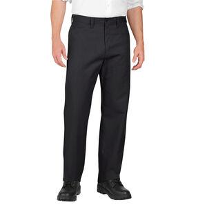 Dickies Men's Industrial Flat Front Pants Polyester / Cotton Waist 38 Length 34 Black LP812
