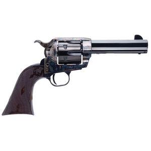 """Cimarron El Malo 2 .45 Long Colt Single Action Revolver 4.75"""" Barrel 6 Rounds Pre-War Frame Design Fixed Sights Case Color Hardened Blued Finish"""