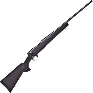 "Howa 1500 Hogue 7mm Rem Mag Bolt Action Rifle 24"" Barrel 3 Rounds Black Hogue Overmolded Stock Blued Finish"