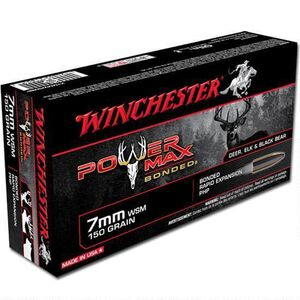 Winchester Power Max 7mm WSM Ammunition 200 Rounds PHP 150 Grains X7MMWSMBP