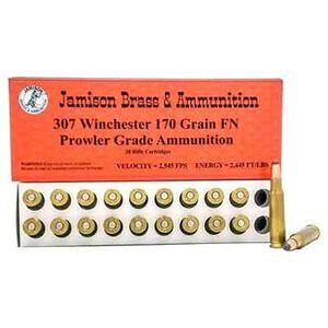 Jamison .307 Winchester Ammunition 20 Rounds Flat Nose 170 Grains 307WIN-170PRL