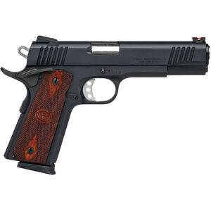 "Charles Daly 1911 Superior Grade 9mm Luger Semi Auto Pistol 8 Rounds 5"" Barrel Synthetic Walnut Grips Black Finish"
