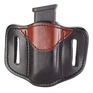 1791 Gunleather Double Stacked Polymer Magazine Single Magazine Pouch 1.2 OWB Ambidextrous Black/Brown