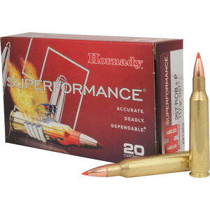 Hornady Superformance .257 Roberts +P Ammunition 20 Rounds SST 117 Grains 81353