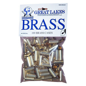 Great Lakes Firearms and Ammunition .44 Special New Unprimed Brass 100 Pack 687535