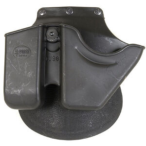 Handcuff/Magazine Roto-Holster Paddle Pouch 10mm and .45 Double Stack Black Warranty