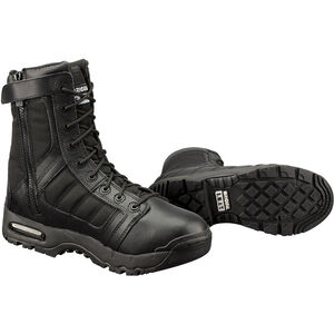 "Original S.W.A.T. Metro Air 9"" Side Zip Men's Boot Size 8.5 Regular Non-Marking Sole Leather/Nylon Black 123201-85"
