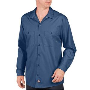 Dickies Long Sleeve Industrial Permanent Press Poplin Work Shirt 5 Extra Large Regular Navy LL535NV