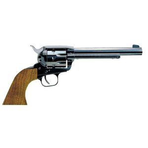 "European American Armory Bounty Hunter Revolver Single Action Army .22LR / .22WMR, 6.75"" Barrel, Alloy Blue Finish, Walnut Grips, 6 Rounds, 2 Chambers Included, Right Hand, 41.6oz,  Fixed Sights 770100"