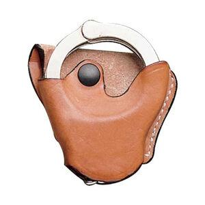 "DeSantis Cuff Case Ambidextrous Fits ASP 100 Handcuffs 1-3/4"" Belts Leather Tan"