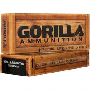 Gorilla Ammunition .300 AAC Blackout Ammunition 20 Rounds Hornady V-Max 110 Grains GA300110VMAX
