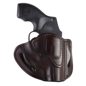 1791 Gunleather RVH-1 OWB Belt Holster for J-Frame Revolvers Right Hand Draw Leather Signature Brown