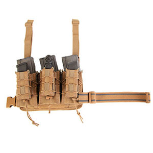 High Speed Gear Double Decker Leg Rig Pistol Rifle Pouch Cordura Coyote Brown