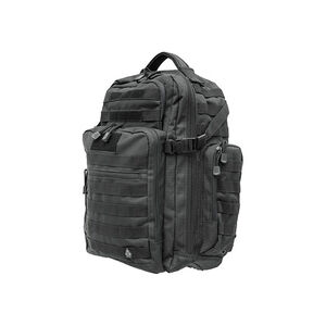 """Leapers UTG 2-Day Situational Preparedness Tactical Backpack 19""""x15.5""""x9"""" MOLLE Compatible 1200 Denier Fabric Black PVC-P248B"""